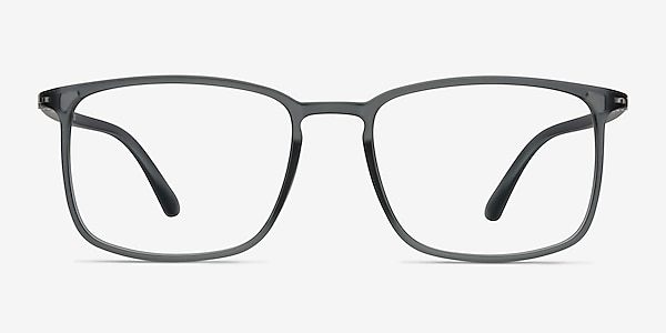 Structure Clear Gray Plastic Eyeglass Frames