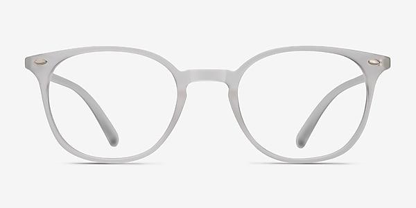 Hubris Matte Clear Plastic Eyeglass Frames