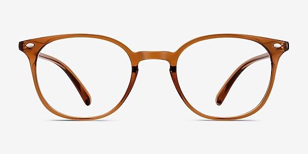 Hubris Clear Copper Plastic Eyeglass Frames