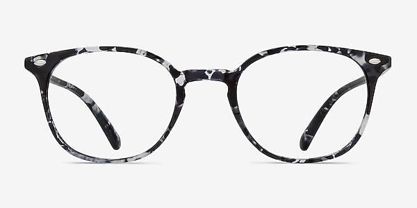 Hubris Black Floral Plastic Eyeglass Frames