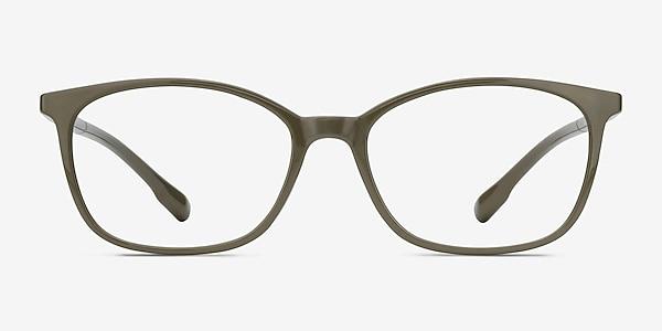 Glider Olive Green Plastic Eyeglass Frames