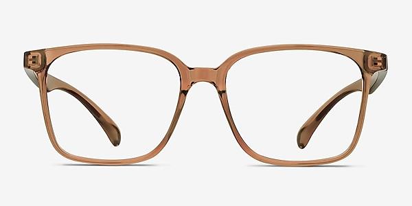 Blocks Clear Brown Plastique Montures de lunettes de vue