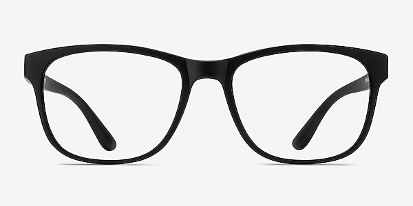 Milo Matte Black Plastic Eyeglass Frames