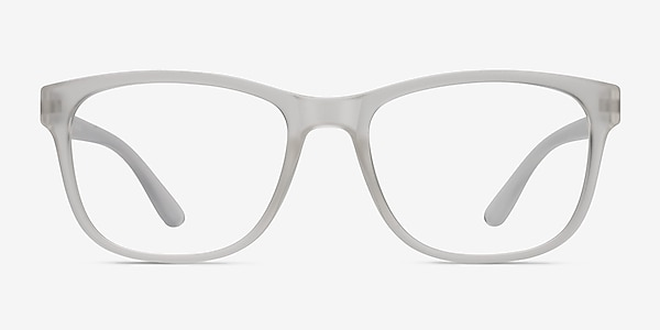 Milo Frosted Clear Plastic Eyeglass Frames