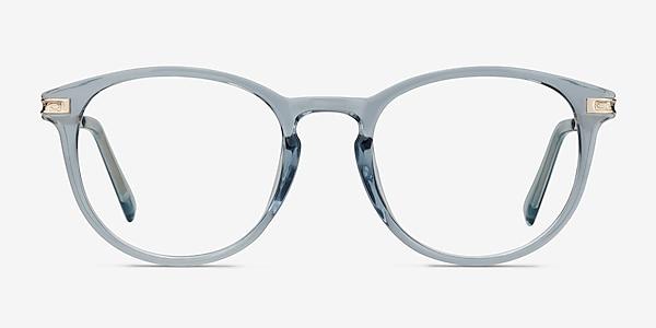 Daphne Clear Blue Plastic-metal Eyeglass Frames