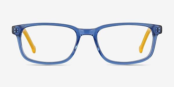 Totes Blue Clear Acétate Montures de lunettes de vue