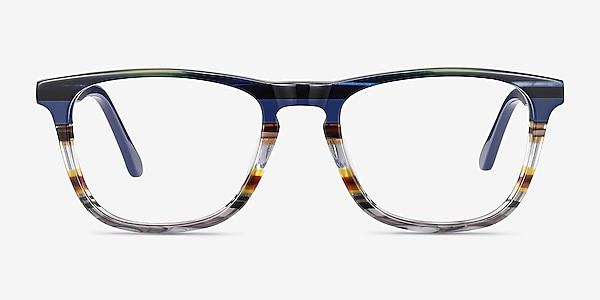 Prelude Blue Striped Acetate Eyeglass Frames