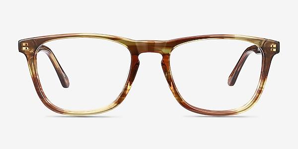 Prelude Brown Striped Acétate Montures de lunettes de vue