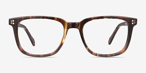 Kent Brown Striped Acetate Eyeglass Frames