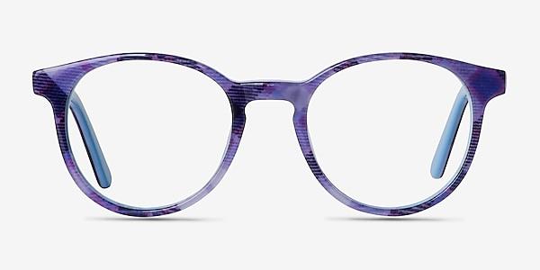 Lariat Purple Striped Acetate Eyeglass Frames