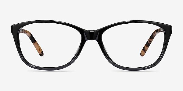 Masque Black Acetate Eyeglass Frames