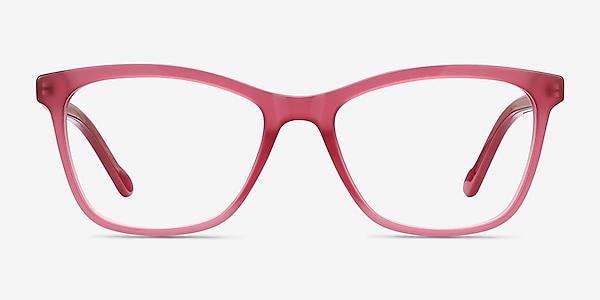 Cannes Clear Raspberry Acetate Eyeglass Frames