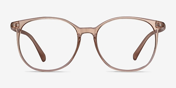 Lucia Champagne Plastique Montures de lunettes de vue