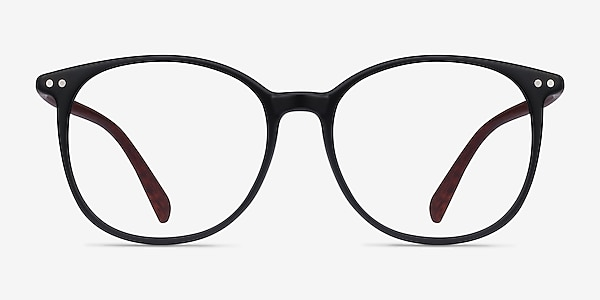 Lucia Matte Black Plastic Eyeglass Frames