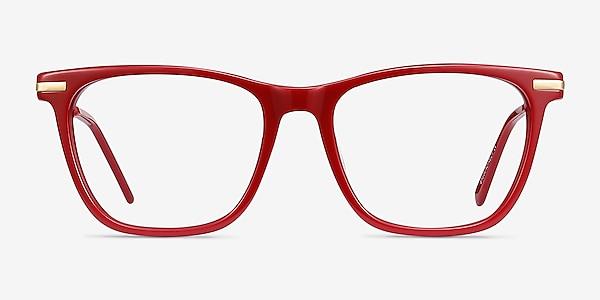 Sebastian Burgundy Acetate-metal Eyeglass Frames