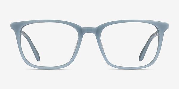 Etched Blue Acetate Eyeglass Frames