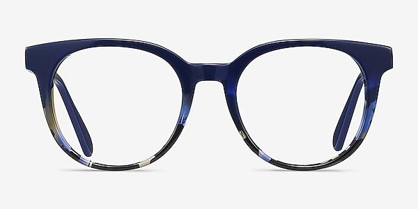 Rialto Blue Floral Acetate Eyeglass Frames