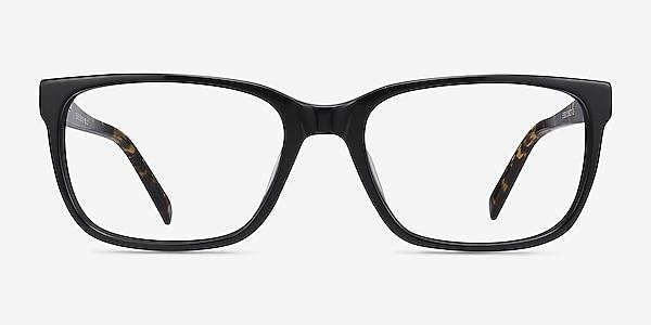Demo Black Acetate Eyeglass Frames