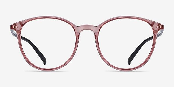 Macaron Clear Pink Plastic Eyeglass Frames
