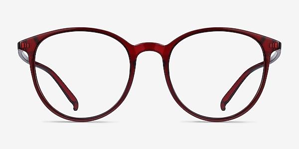 Macaron Burgundy Plastic Eyeglass Frames