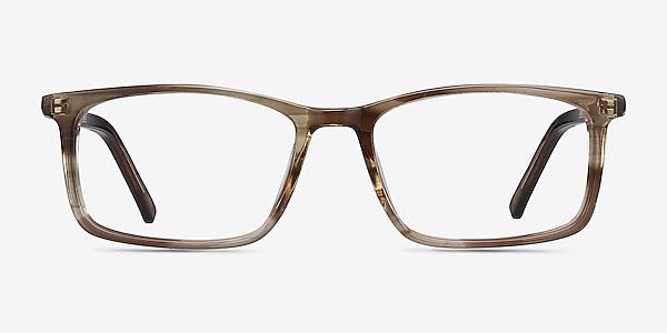 Crane Brown Striped Acetate Eyeglass Frames