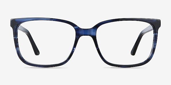 Formula Blue Striped Acetate Eyeglass Frames