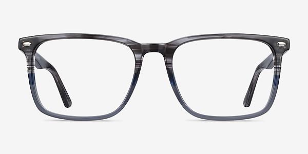Tactician Gray Striped Acetate Eyeglass Frames