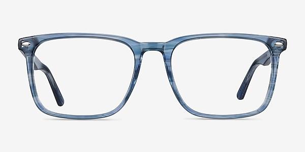 Tactician Blue Striped Acétate Montures de lunettes de vue