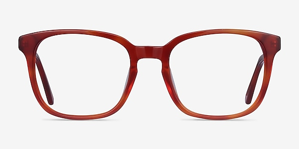 Tower Blood Orange Acetate Eyeglass Frames