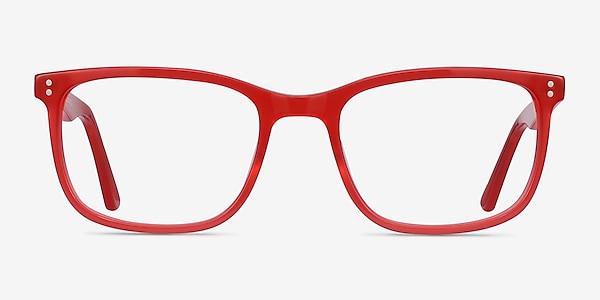 Lugano Rouge Acétate Montures de lunettes de vue