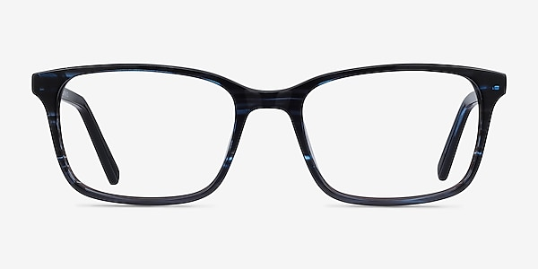 Clipperton Blue Striped Acetate Eyeglass Frames