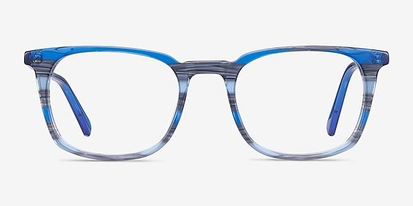 Gabor Blue Striped Acetate Eyeglass Frames