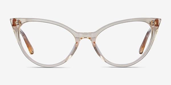 Quartet Clear Yellow Acétate Montures de lunettes de vue