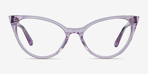 Quartet Clear Purple Acétate Montures de lunettes de vue