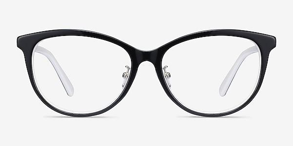 Helena Black White Acetate Eyeglass Frames
