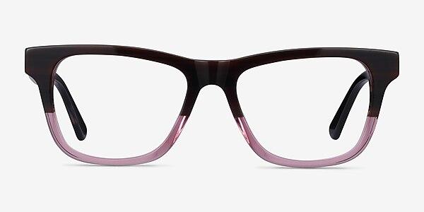 Feeling Brown Purple Acetate Eyeglass Frames