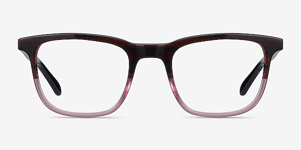 Ville Brown Purple Acetate Eyeglass Frames