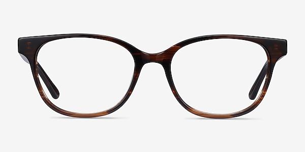 Patra Brown Striped Acetate Eyeglass Frames