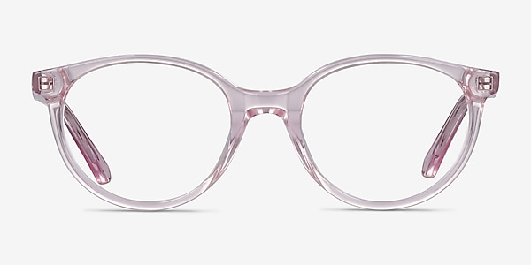 Trust Clear Pink Acetate Eyeglass Frames