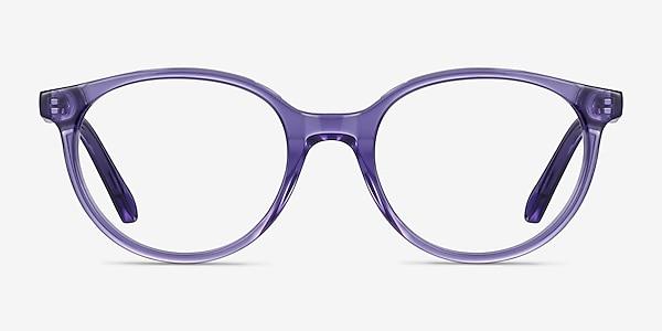 Trust Clear Purple Acetate Eyeglass Frames