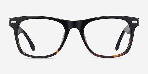 Caster Black Tortoise Acétate Montures de lunettes de vue