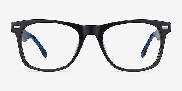 Caster Black Acetate Eyeglass Frames