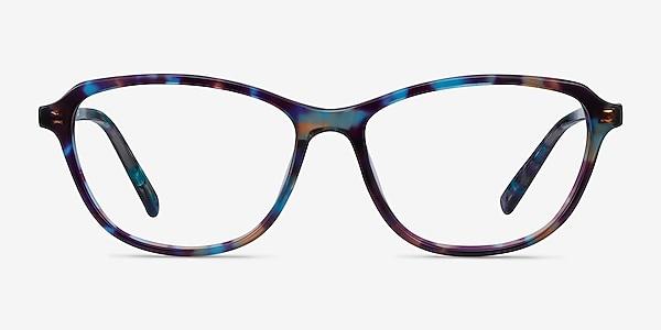 Ciencia Blue Floral Acétate Montures de lunettes de vue