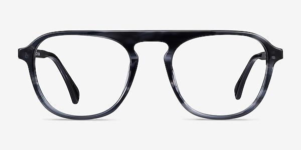 Ida Gray Striped Acétate Montures de lunettes de vue
