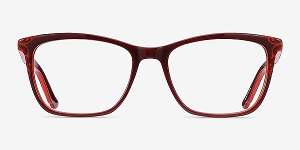 Hedera Burgundy Orange Acétate Montures de lunettes de vue