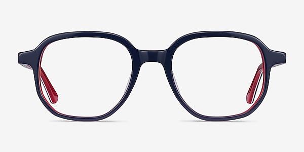 States Navy & Red Acetate Eyeglass Frames