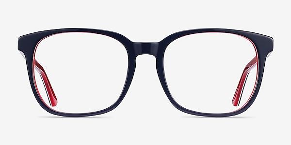 Firework Navy & Red Acetate Eyeglass Frames