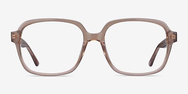 Tompkins Clear Brown Acetate Eyeglass Frames