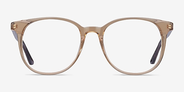 Solveig Clear Brown Acetate Eyeglass Frames