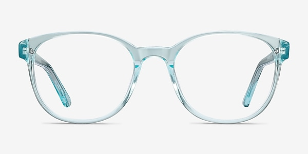 Gable Clear Blue Acetate Eyeglass Frames